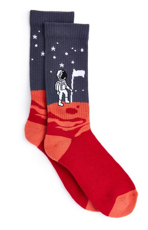 Astronaut Landscape Socks