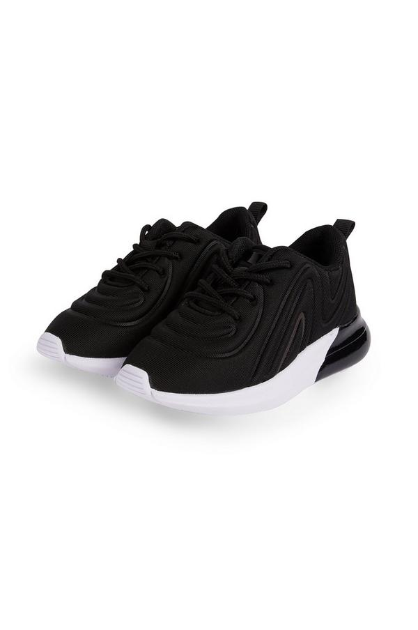 Younger Boy Black Embossed Sneakers