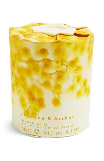 Jasmine And Amber Floral Wrap Candle