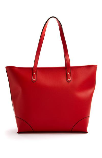 Red Bonded Shopper