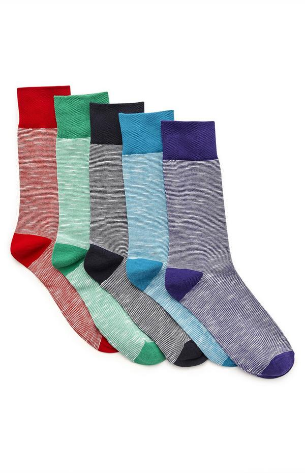 Lot de 5 paires de chaussettes multicolores