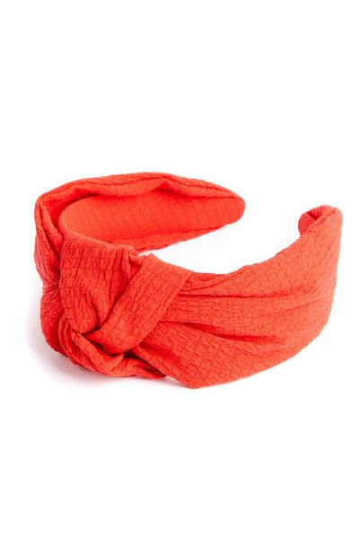 Red Crepe Knot Headband