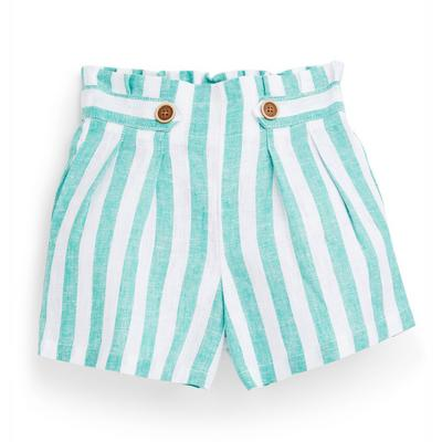 Younger Girl Blue Striped Shorts