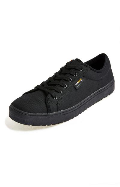 Premium Black Cordura Low Top Trainers