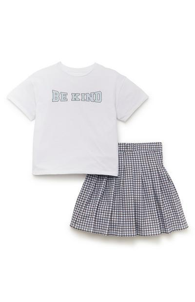 Older Girl Be Kind Pleated Skirt And Top Set