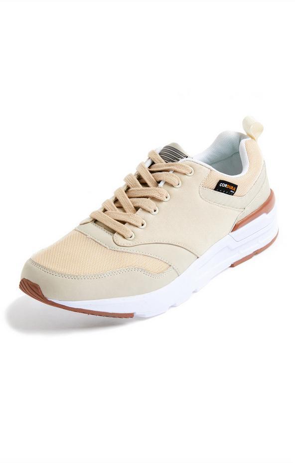 Premium Beige Cordura Sneakers