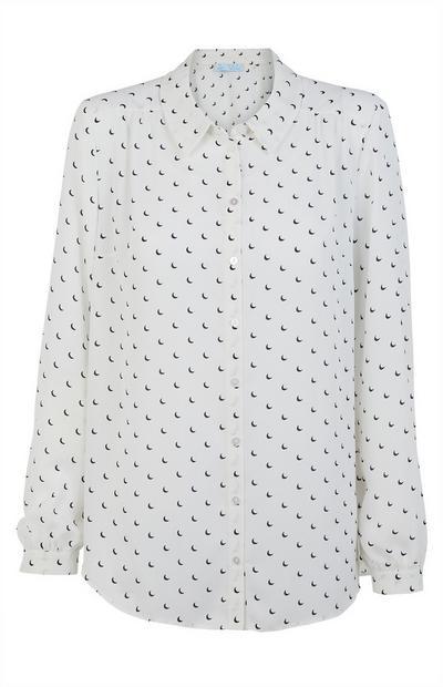 Camisa estampada de crepé