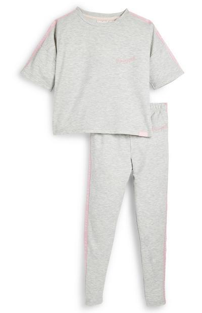 Grijze pyjama Pineapple voor meisjes