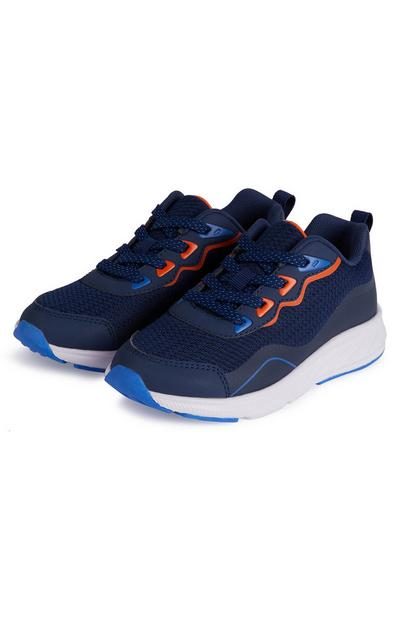 Older Boy Navy Phylon Sole Trainers