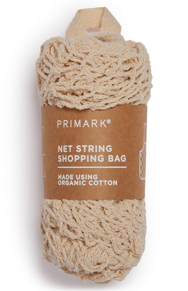 Ivory Cotton Net String Shopping Bag