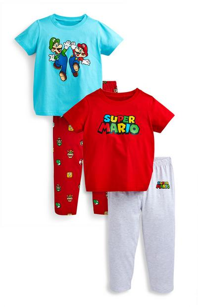 Younger Boy Super Mario Pyjamas Sets 2 Pack