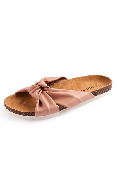 Blush Knot Footbed Sandals
