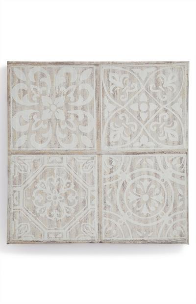Ivory Tile Patterns Canvas Board Wall Art