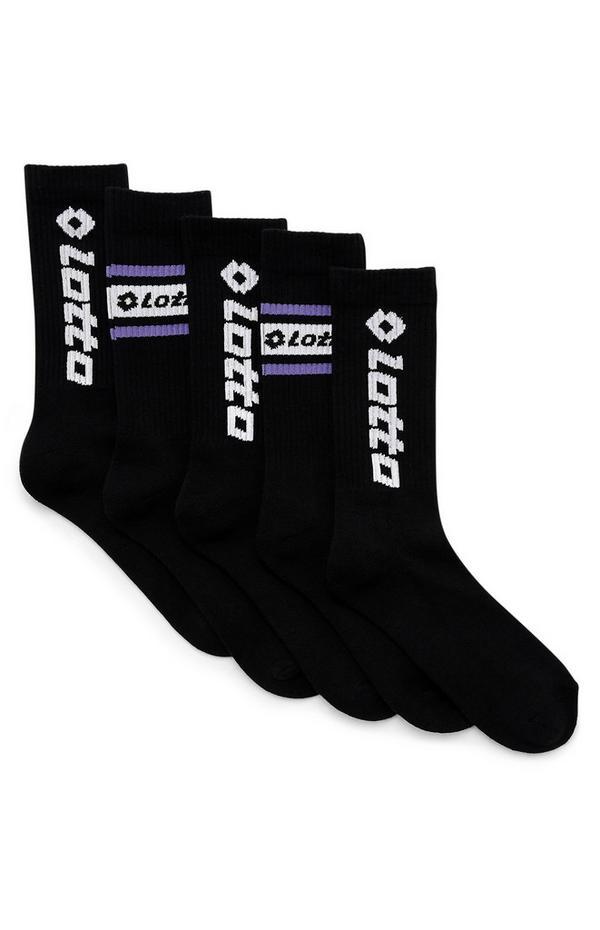 Zwarte Lotto-sokken, 5 paar