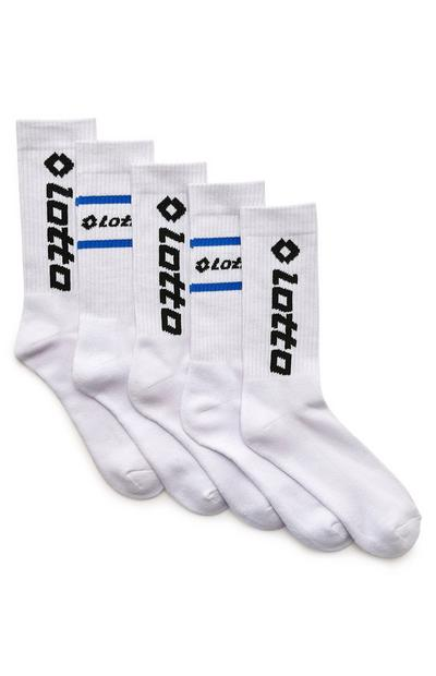 Pack 5 pares meias Lotto branco