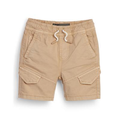 Younger Boy Khaki Cargo Shorts