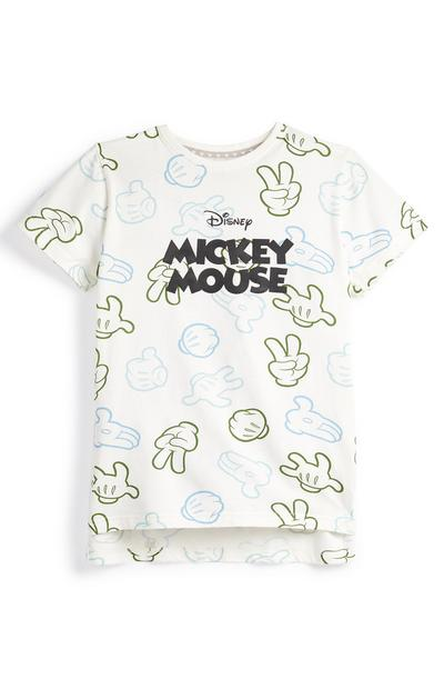 Bela majica Disney Mickey Mouse za mlajše fante Primark Cares