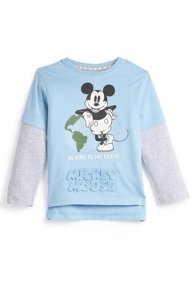 Primark Cares Featuring Disney Younger Boy Blue Mickey Mouse World T-Shirt