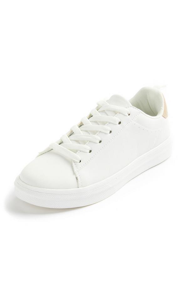 Minimalistische lage witte sneakers