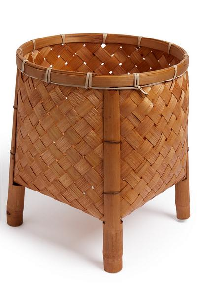 Woven Bamboo Plant Pot Stand