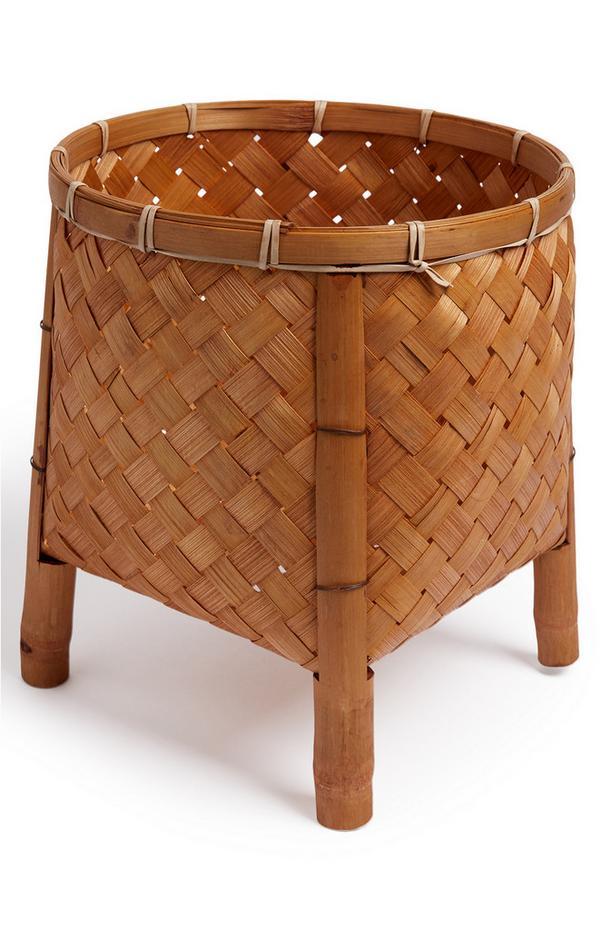 Portavaso per pianta in bambù intrecciato