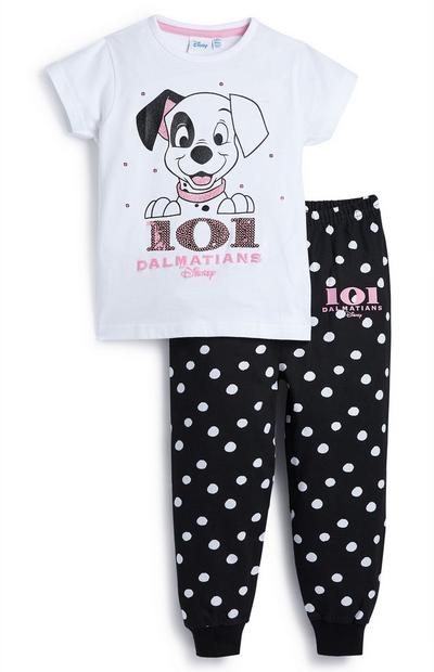 Younger Girl Disney 101 Dalmations Pyjamas Set