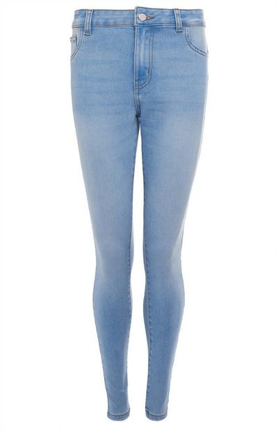 Jean skinny push-up bleu clair