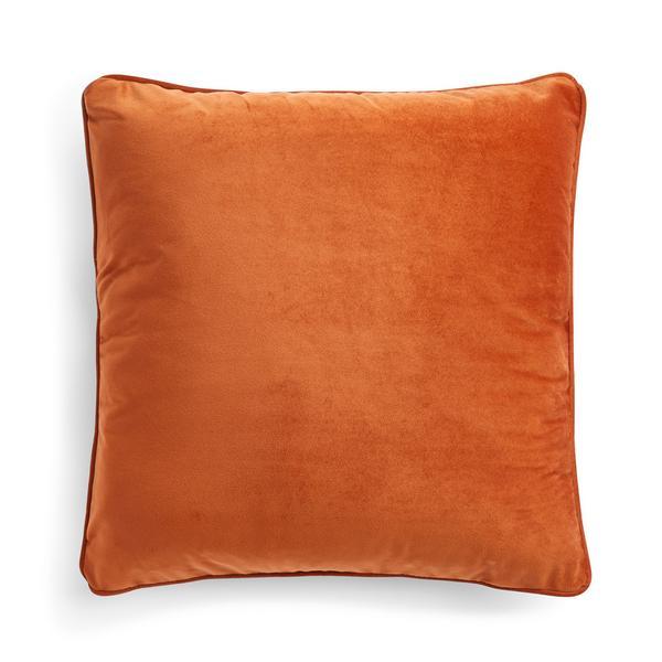 Burnt Orange Velvet Cushion Cover