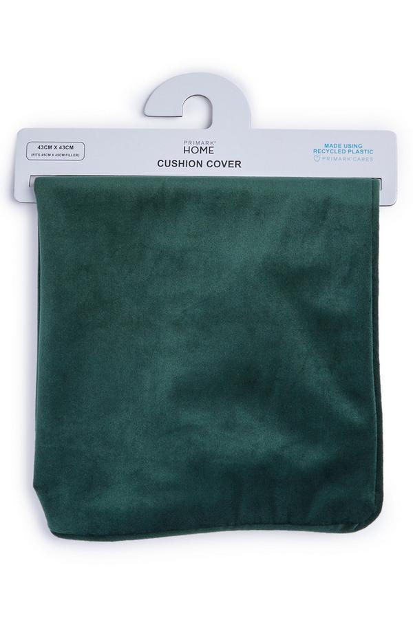 Capa almofada veludo verde profundo
