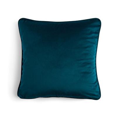 Blaugrüner Kissenbezug aus Samt