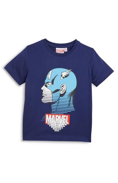 Younger Boy Navy Marvel T-Shirt