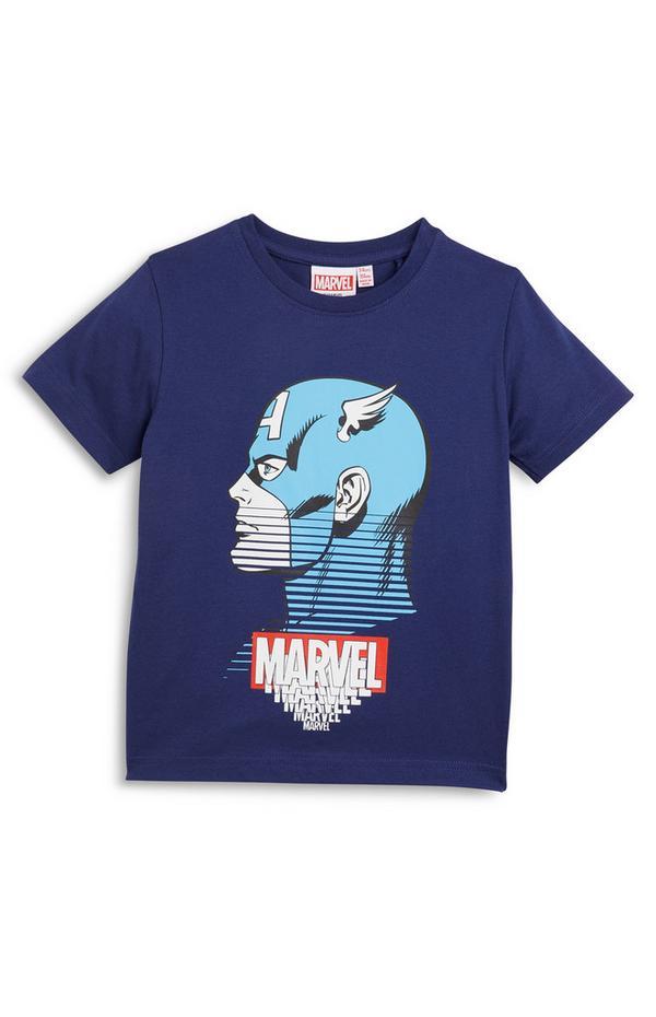 Mornarsko modra majica s kratkimi rokavi Marvel za mlajše fante