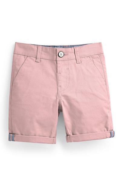 Roze chinoshort voor jongens