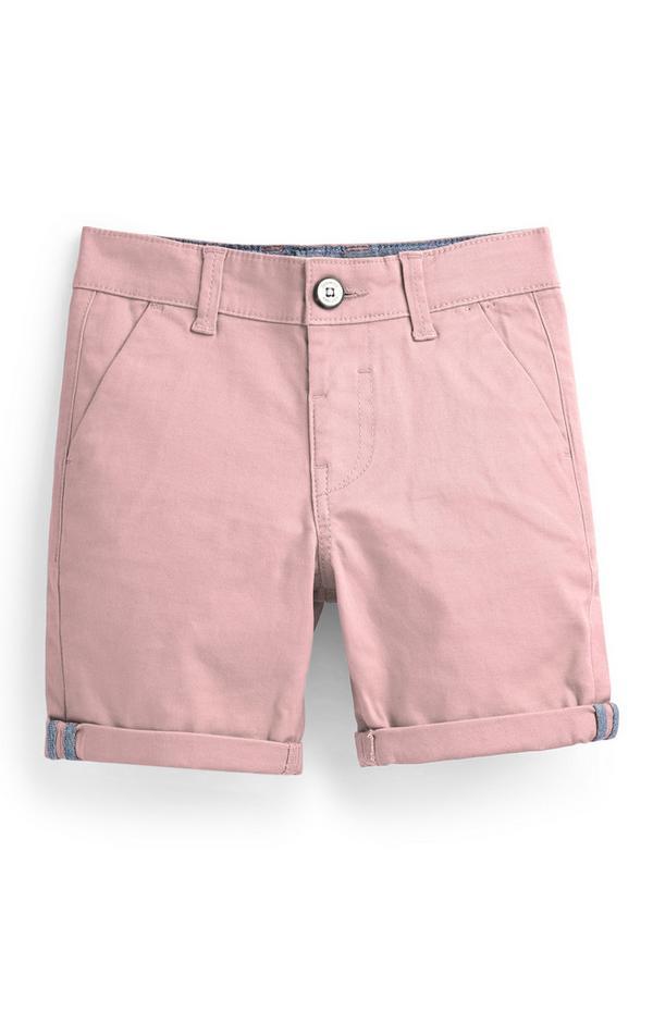 Pantalón chino corto rosa para niño pequeño