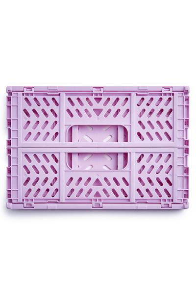 Lilac Mini Collapsible Plastic Crate