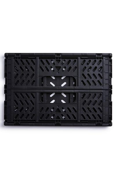 Black Mini Collapsible Plastic Crate