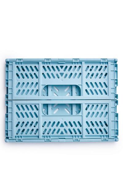 Caisse pliante bleue de taille moyenne en plastique
