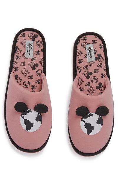 Rožnati copati z motivom Zemlje Disney Mickey Primark Cares