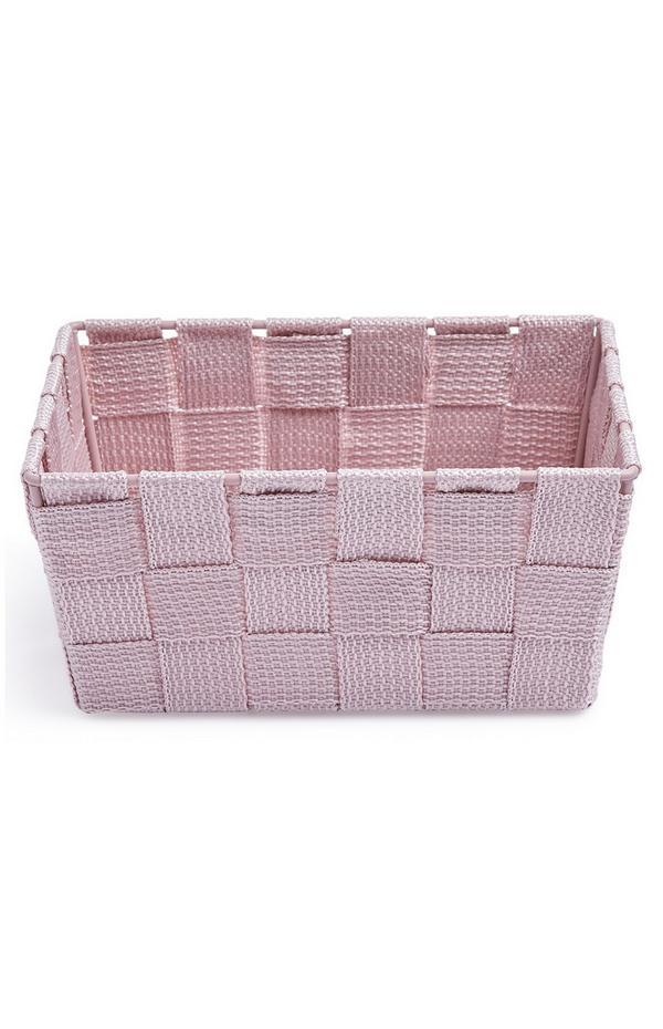 Pink Mini Woven Basket