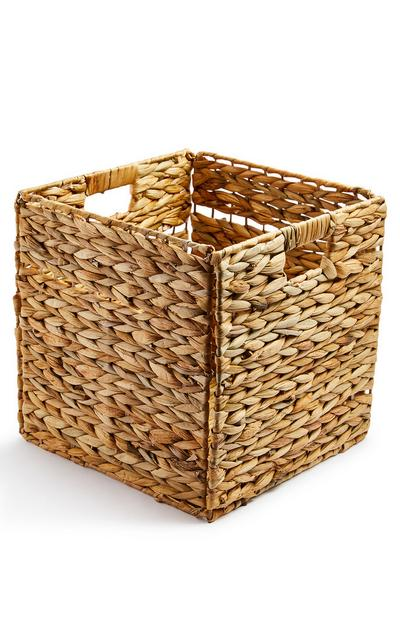 Straw Wicker Storage Cube Box