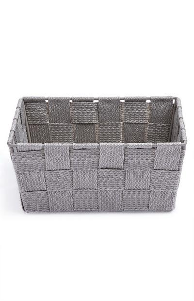 Gray Woven Mini Basket