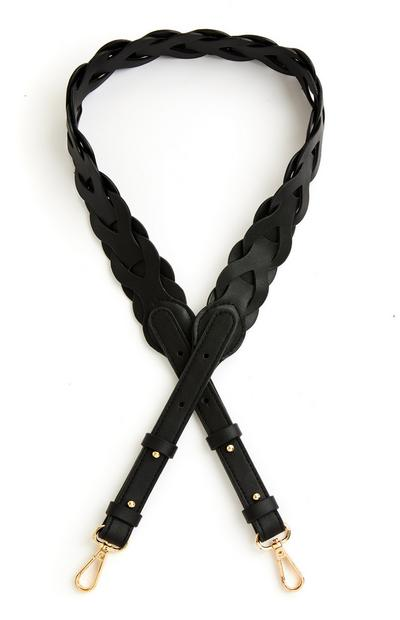 Black Woven Clip On Bag Strap