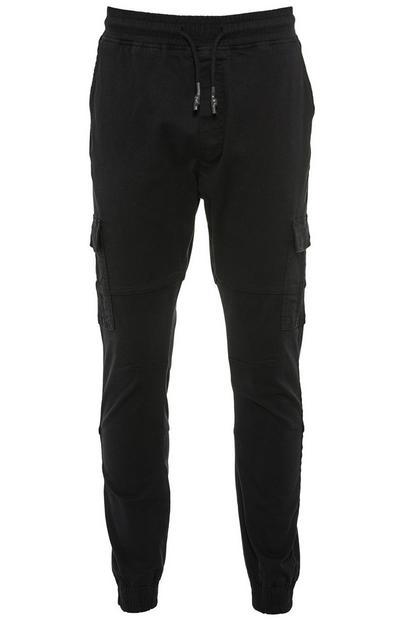 Black Cuff Cargo Pants