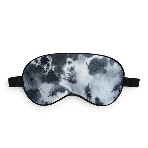 Grau gemusterte Schlafmaske