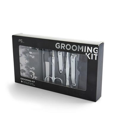 Gray Print Grooming Set