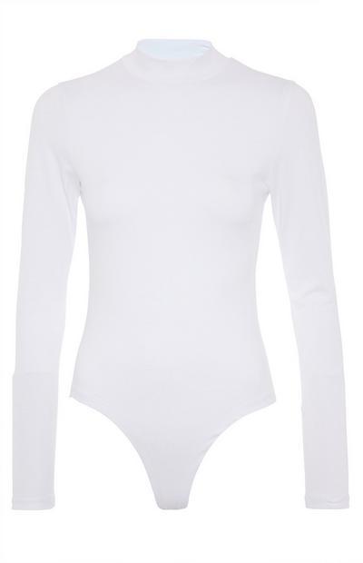 Body blanc à col cheminée