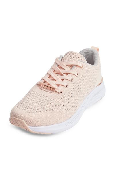 Peach Metal Trim Trainers