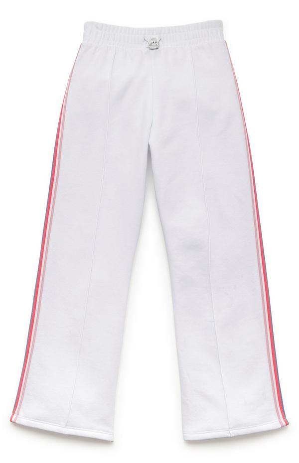 Weiße Jogginghose mit weitem Bein (Teeny Girls)