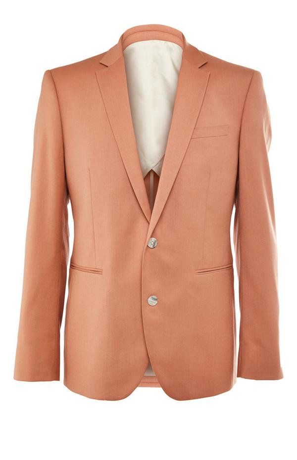 Chaqueta de traje premium de color rosa empolvado