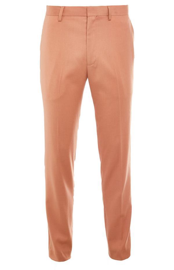 Calças fato premium rosa-pálido